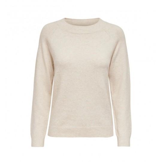 maglione girocollo melange