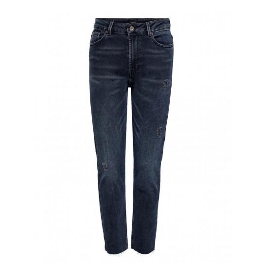 jeans lavaggio scuro mom